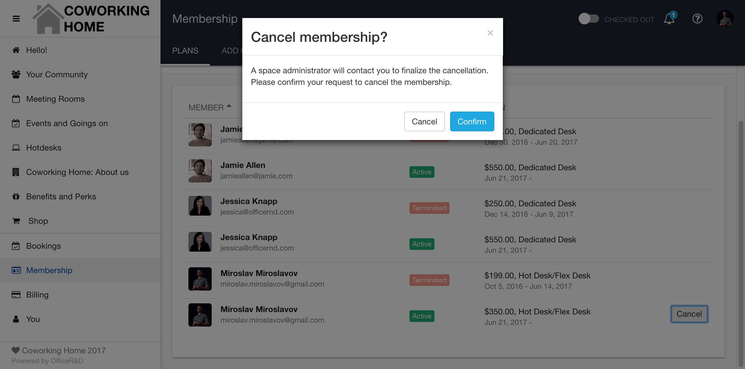 Cancel Membership