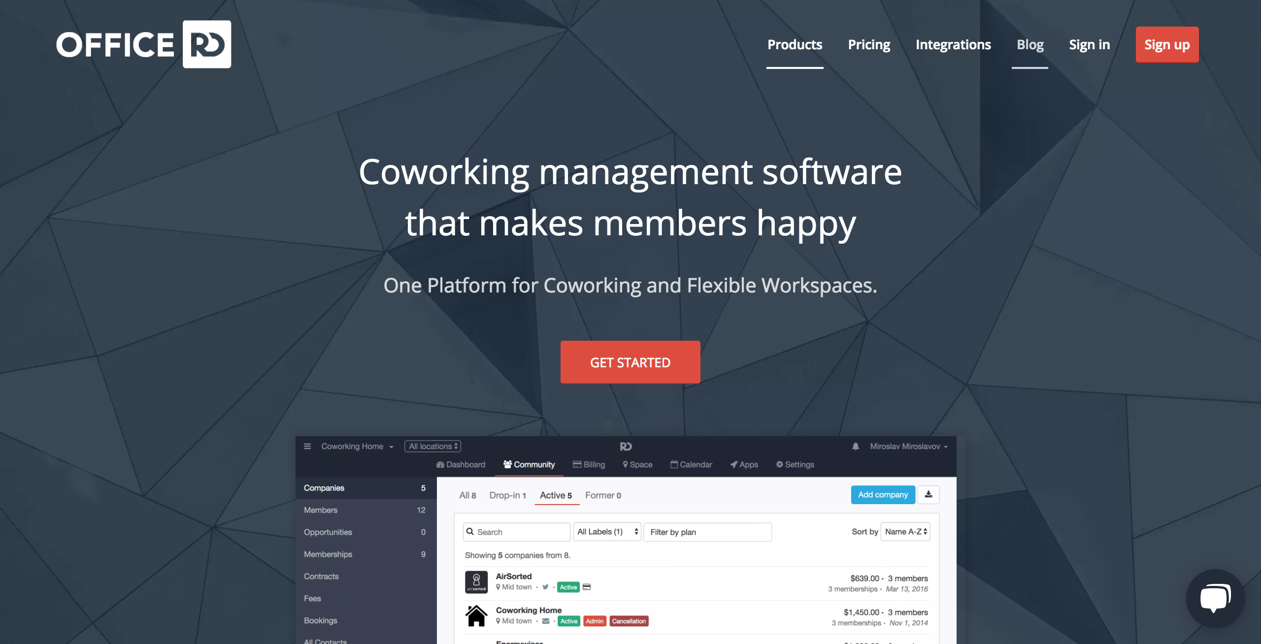 Coworking Website CMS
