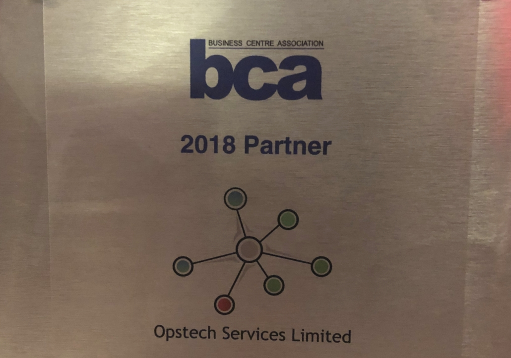 Opstech BCA Partner 2018 Awards
