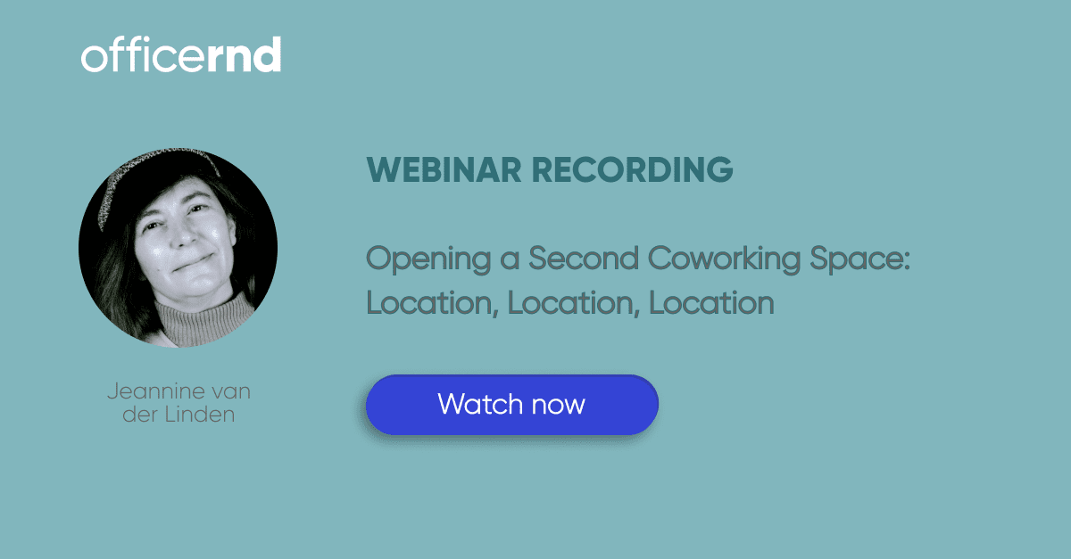 opening a second coworking location webinar
