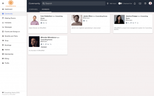 Software Demo Screen - Member Directory, Event management & Collaboration