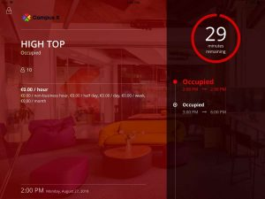 Software Demo Screen – Tablet Meeting Room Management