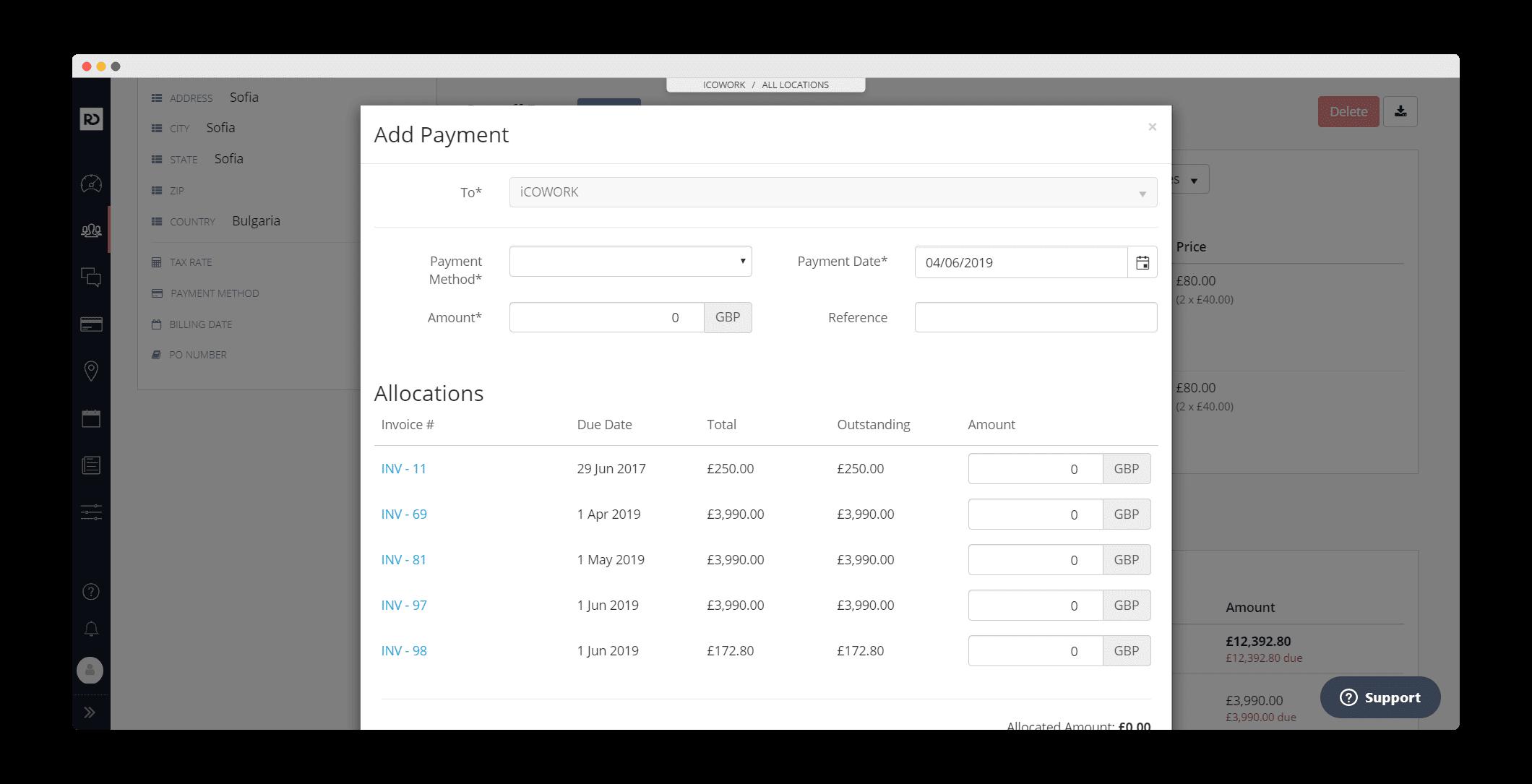 Add Payment | OfficeRnD