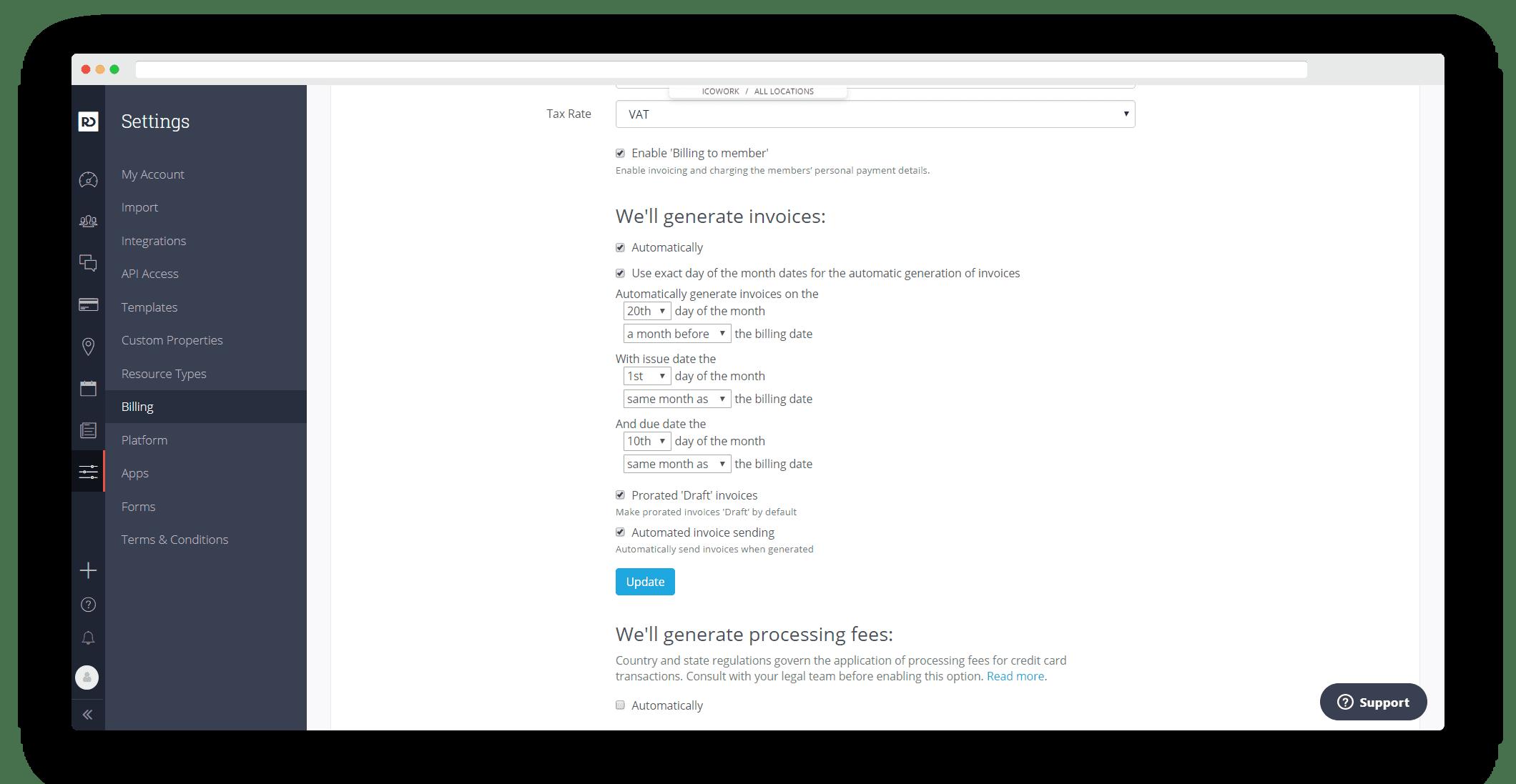 Exact Date Bill Run | OfficeRnD