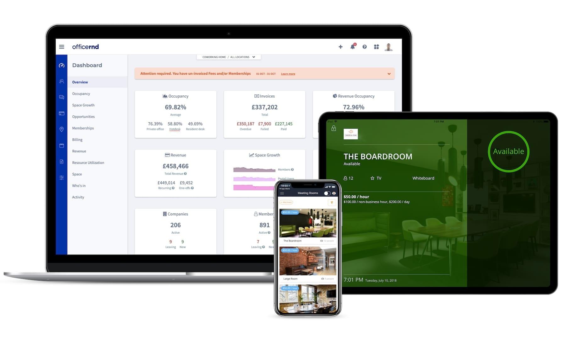 OfficeRnD coworking app