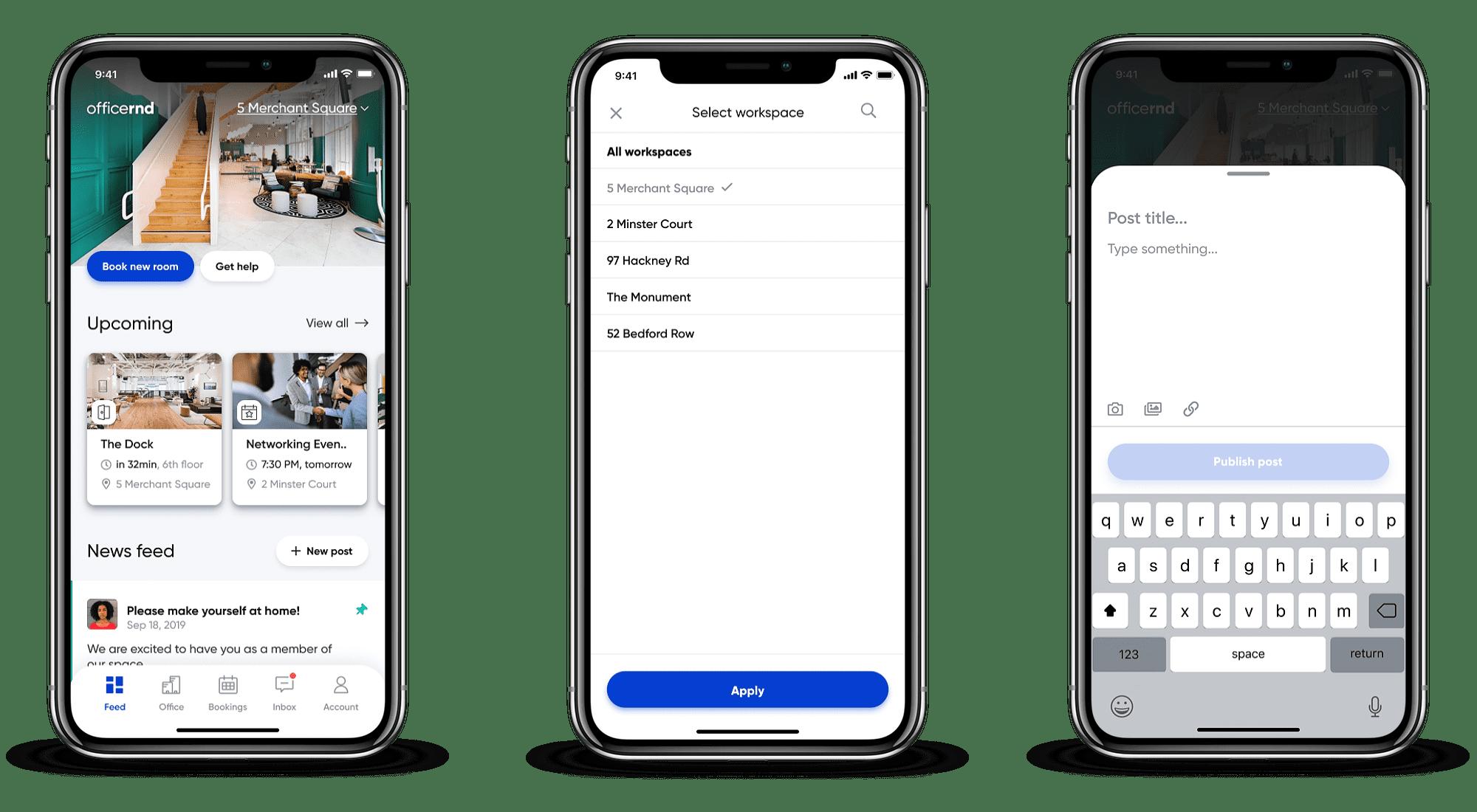 New OfficeRnD mobile app members digital